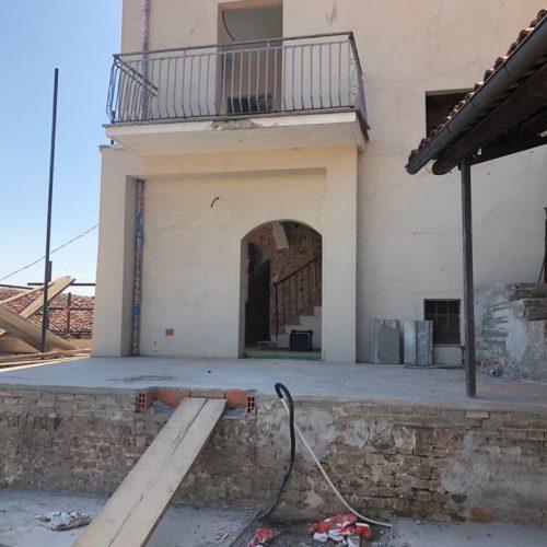 Studio Anna Cane | Durante i lavori | Palazzotto storico a Pocapaglia- 9