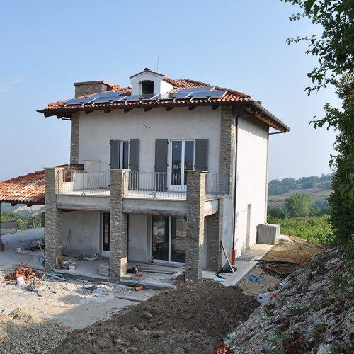 Studio Annamaria Cane | Villa in pietra di Langa in Montemarino | Nuove Costruzioni - Durante i Lavori - 2