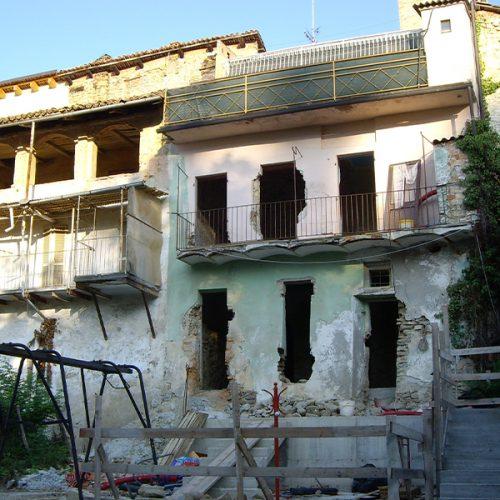 Studio Anna Cane   Durante i lavori   Porzione di casa storica a Monforte - 1