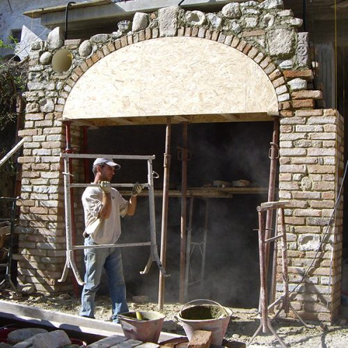Studio Anna Cane   Durante i lavori   Porzione di casa storica a Monforte - 3