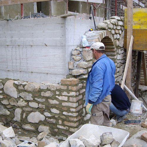 Studio Anna Cane   Durante i lavori   Porzione di casa storica a Monforte - 4