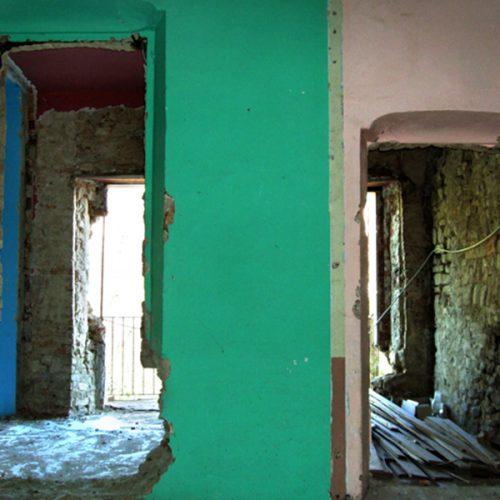 Studio Anna Cane   Durante i lavori   Porzione di casa storica a Monforte - 7