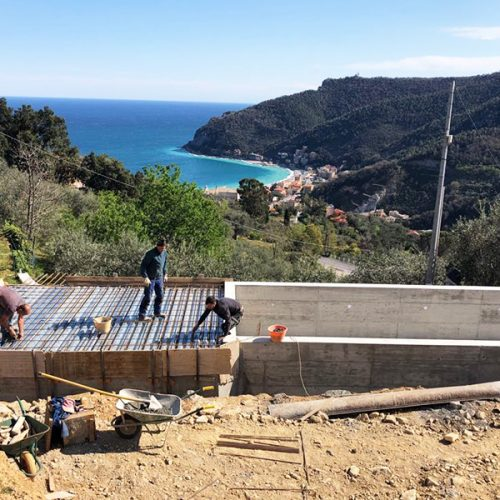 Studio Annamaria Cane | Villa Semi Ipogea in Noli | Nuove Costruzioni - Durante i lavori - 6