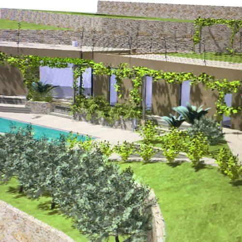 Studio Annamaria Cane | Villa Semi Ipogea in Noli | Nuove Costruzioni - Il progetto - 1