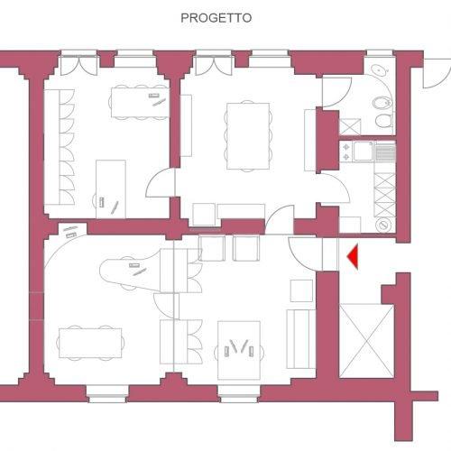 Studio Anna Cane | Il progetto | Ufficio in centro ad Alba - 3
