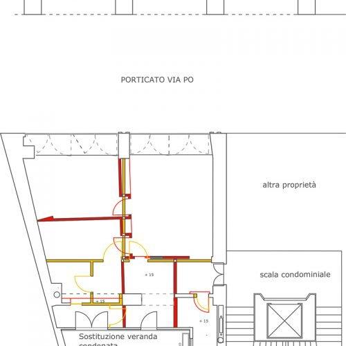 Studio Anna Cane | Il progetto | Appartamento a Torino, via Po - 1