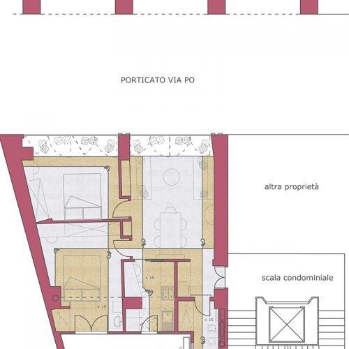 Studio Anna Cane | Il progetto | Appartamento a Torino, via Po - 2
