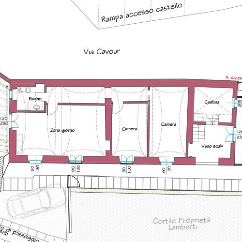 Studio Anna Cane | Il progetto | Palazzotto storico a Pocapaglia - 5